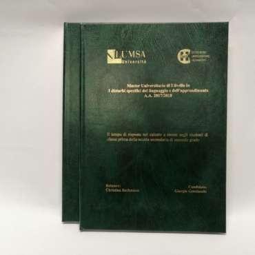 Stampa tesi di laurea a Prato
