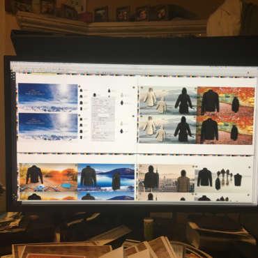 Progetti di grafica da monitor a carta Prato