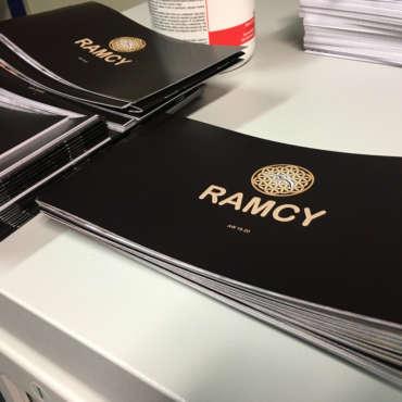 Stampa brochure formato personalizzato piegate e spillate a Prato