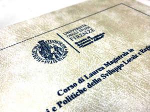 Stampa tesi copertina in similpelle e scritte inblu